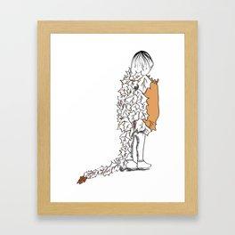 Autumn Girl Framed Art Print