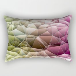 Quilted Pattern Pinks and Mint Green Pastel Design Rectangular Pillow