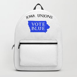 Iowa Democrat Vote State Blue Voter Union Workers Support  Backpack
