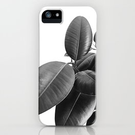 Ficus Elastica #23 #BlackAndWhite #foliage #decor #art #society6 iPhone Case