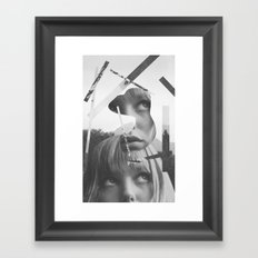 She left pieces of her life Framed Art Print