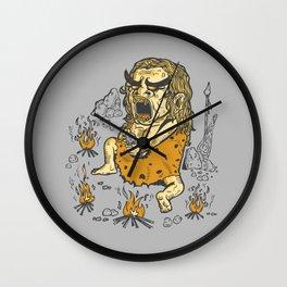Prehistoric Pyromaniac Wall Clock