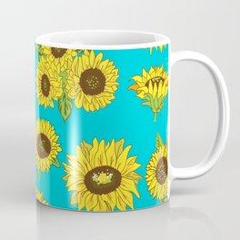 Sunflower Grunge Pattern Coffee Mug