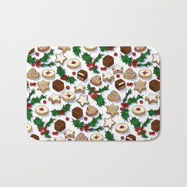 Christmas Treats and Cookies Bath Mat