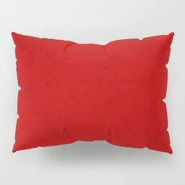 Red suede Pillow Sham