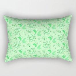 Neon Lime Green Midcentury Rectangular Pillow