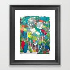 Multicoloured Poppyheads Framed Art Print