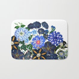 Vintage & Shabby Chic - Blue Flower Summer Meadow Bath Mat