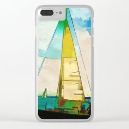 Night Sailing  -  Sailboats Clear iPhone Case