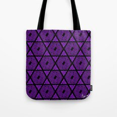 Kagome Greek Fret ... Purple Tote Bag