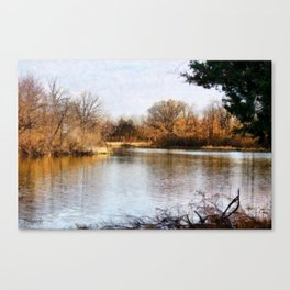 Woods Lake - Shelbyville, IL Canvas Print