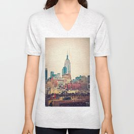 NYC Vintage style Unisex V-Neck
