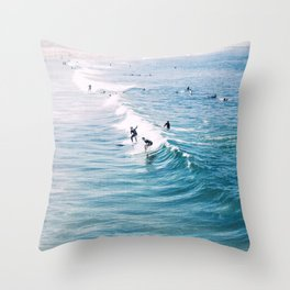 Catch A Wave Throw Pillow