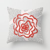 lolita Throw Pillows featuring Lolita by Lina Elyse Patton