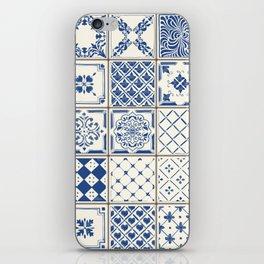 Blue Ceramic Tiles iPhone Skin