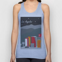 Los Angeles, California - Skyline Illustration by Loose Petals Unisex Tank Top