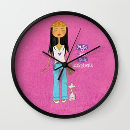 Dogs Are Little Assitants Wall Clock