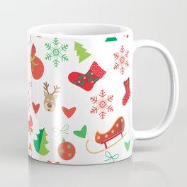 Happy New Year and Christmas Symbols Decoration Coffee Mug