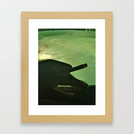 Cigarette and a Hot Tub Framed Art Print