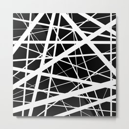Entrapment - Black and white Abstract Metal Print