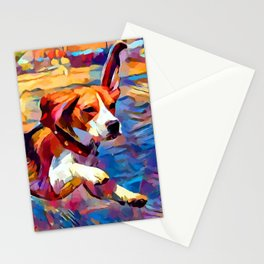 Beach Beagle Stationery Cards