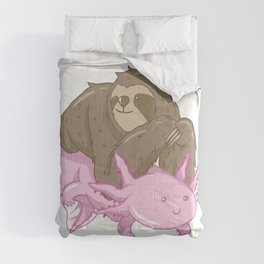 Cute Axolotl Sloth Water Aquarium Pet Animal Gift Comforters