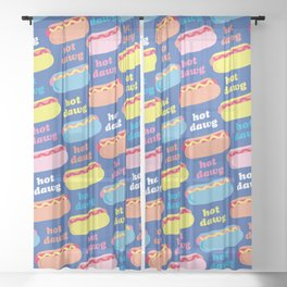 Hot Dawg Sheer Curtain