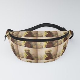 Lady Vanderkat with Roses Fanny Pack