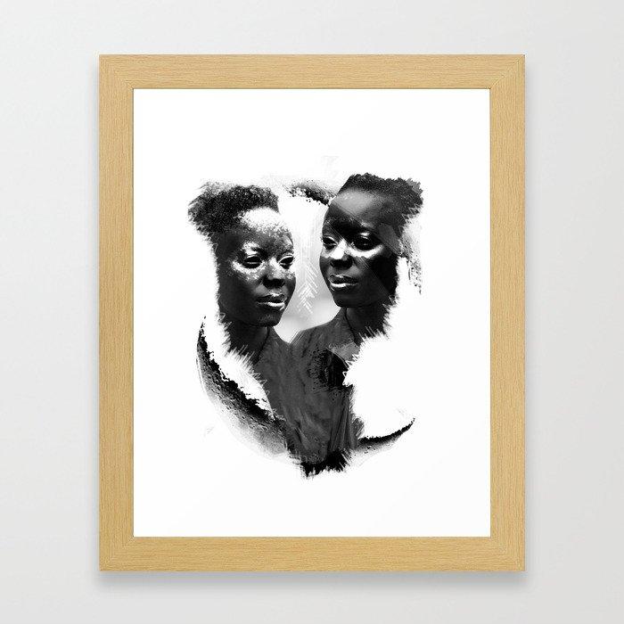 BLACK LOVE Framed Art Print