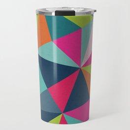 Geometric Triangle Pattern  - Spring Color Palette - Travel Mug