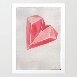 Crystal/Origami Heart Art Print