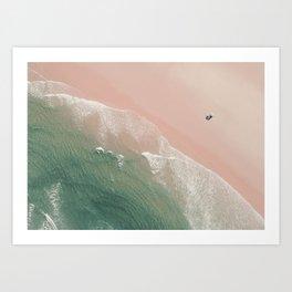 Life is peachy at the beach Art Print