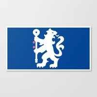 chelsea fc Canvas Prints featuring Chelsea FC by Khaled