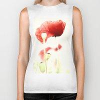 poppies Biker Tanks featuring Poppies by Falko Follert Art-FF77