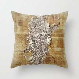 Human Rebirth Throw Pillow