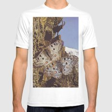 Collage #44 MEDIUM White Mens Fitted Tee