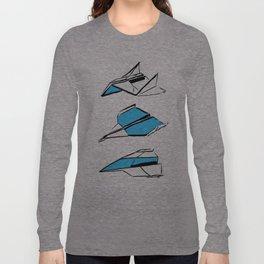 Paper Planes: Blue Long Sleeve T-shirt