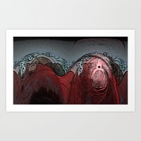 walrus Art Prints featuring Walrus by Davey Charles