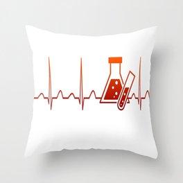 Chemist Heartbeat Throw Pillow