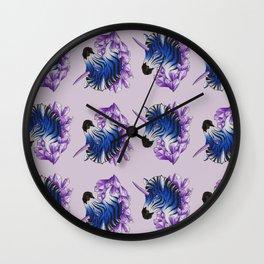 Blue Zebracorn Wall Clock