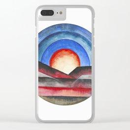 Geometric landscapes 01 Clear iPhone Case