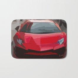 Red Aventador SV Coupe Bath Mat