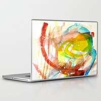 contact Laptop & iPad Skins featuring contact by Kay Weber