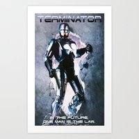 terminator Art Prints featuring Terminator by MartiniWithATwist