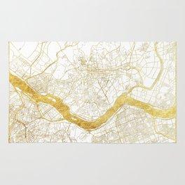 Seoul Map Gold Rug