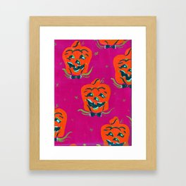 Purple Happy Jacks Framed Art Print