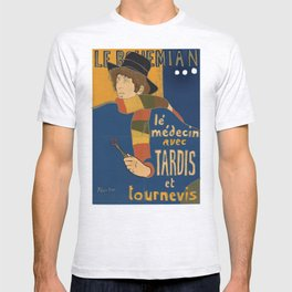 Le Bohemian Doctor Who by Lautrec T-shirt