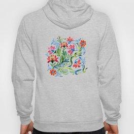 Watercolor Garden Folk Floral In Vintage Style Hoody