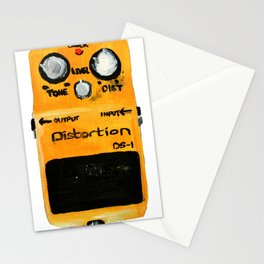 Guitar Distortion Pedal Acrylics On Paper (White Edit) Stationery Cards
