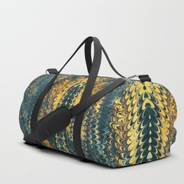 gold cactus marble Duffle Bag